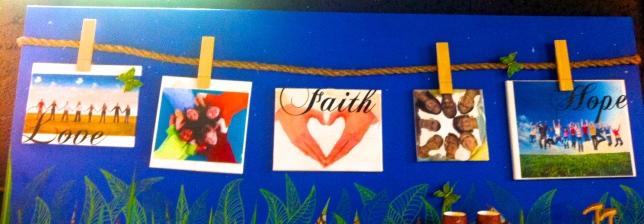 Art work from Mosaic Church in Miami Florida