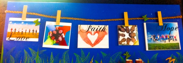 Art work from Mosaic Church in Miami Florida