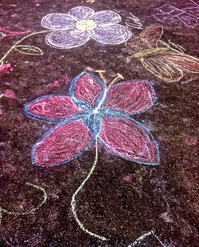 Chalk Art on New Song Church's Parking Lot