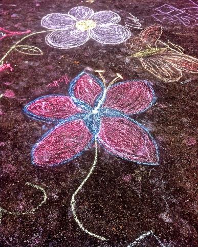 Chalk Art on New Song Church's Parking Lot