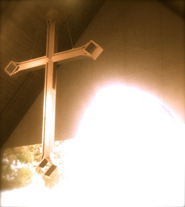 Cross at St. John's Lutheran Church in Mounds, Minnesota