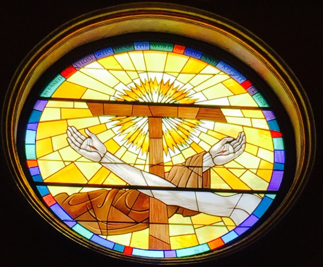 Stained Glass window at St. Francis of Assisi Catholic Church in Henderson, NV
